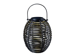 Design Craft Coil Solar Lantern, Black