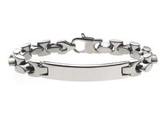 Stainless Steel Chunky Link ID Bracelet