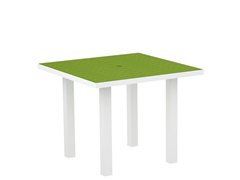 Euro Dining Table, White/Lime