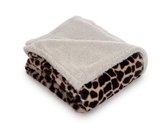 Fleece Sherpa Blanket Throw - Giraffe