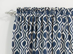 Nichole Rod Pocket Curtain Panel - Indigo - 3 Lengths