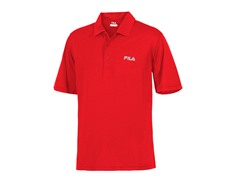 Fila Men's Heathered Polo - Red (S,M)