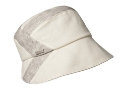 Daisy Fabric Bucket Hat, White