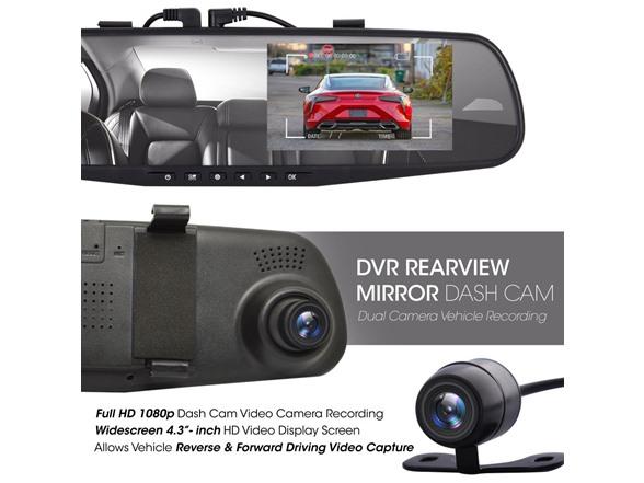 Pyle Dual Lens Mirror Car Camera