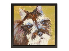 Unleashed Life Schnauzer Oil Painting