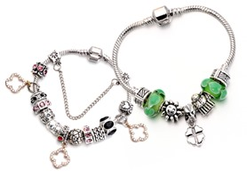 European Murano Charm Bracelet- Your Choice!