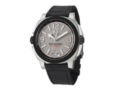 Men's GMT Grey Dial Black Alligator