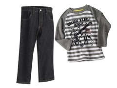 Guitar Striped Top & Jeans (3T-4T)