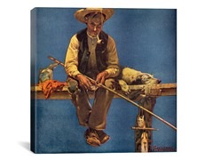 Man on Dock Fishing (2-Sizes)