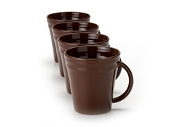 Brown Mugs Set of (4) 12 oz.