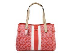 Coach Signature Stripe Carryall, Orange