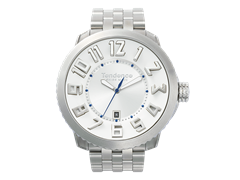 Swiss White & Silver Watch