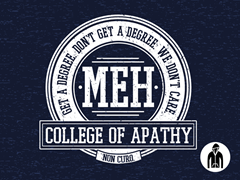 College of Apathy LW Zip-Up Hoodie