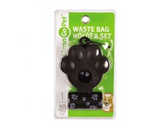 Clean Go Pet Pawprint Waste Bag Holder 2-Pack - Black