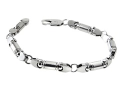 Stainless Steel Beam Link Bracelet