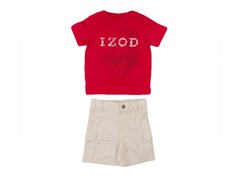 Red 2-Piece Short Set (3M-12M)