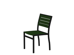 Euro Dining Chair, Black/Green