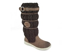 MUK LUKS ® Women's Lainey Scrunch Knit Boot, Dk Brown
