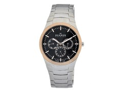 Men's Black Dial Silver Band Titanium Watch