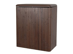Bamboo Hamper w/Vinyl Lid - Chocolate