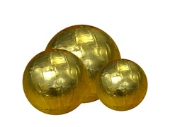 Brass Orbs Set of 3