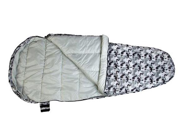Wildkin Grey Camo Stay Warm Sleeping Bag