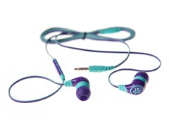 Diego Earphones w/Inline Mic - Purple/Mint