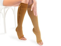 Zippered Compression Leg Stocking
