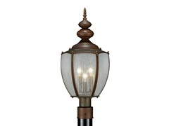 Post Lantern with Clear Glass, Bronze