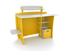 "Legare Yellow 43"" Kids Desk w/File Cart"
