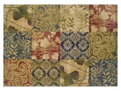 Greyson Squares Floral Rug (Multiple Sizes)