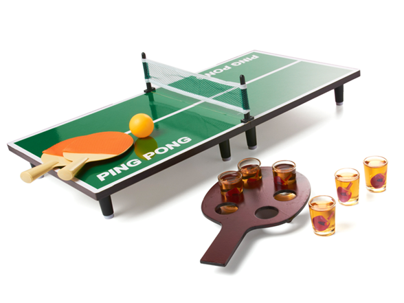 Tabletop Table Tennis Shot Glass Game