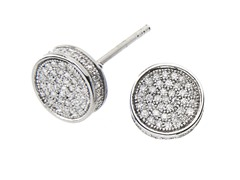Sterling Silver RoundBox Stud Earrings