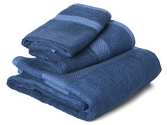Bamboo Viscose 3-pc Towel Set - Marine