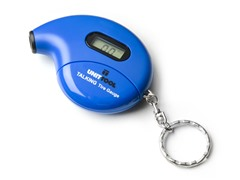 Digital Talking Tire Gauge Keychain, 2-Pack, Blue