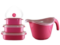 Batter Bowl, Lid & 6-pc Set Magenta