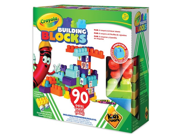 Building Toys From The 90s : Crayola building blocks set pieces kids toys