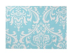 Large Damask Placemat S/4-Aqua