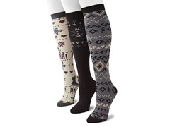 "MUK LUKS® Women's ""Vintage"" 3 Pr-Pack Knee High Socks"