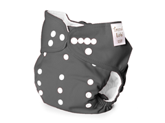 Adjustable Cloth Diaper - Grey