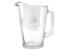 Browns Satin Etched Pitcher