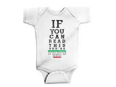 Infant Bodysuit - Eye Chart (6M-18M)