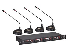Rack Mount 4CH Desktop UHF Wireless Mic System