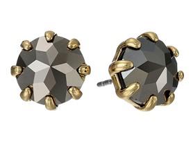 Rebecca Minkoff Hematite Button Stud Earrings