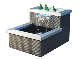 Gardenique Monterey Patio Ponds Lit Spillway