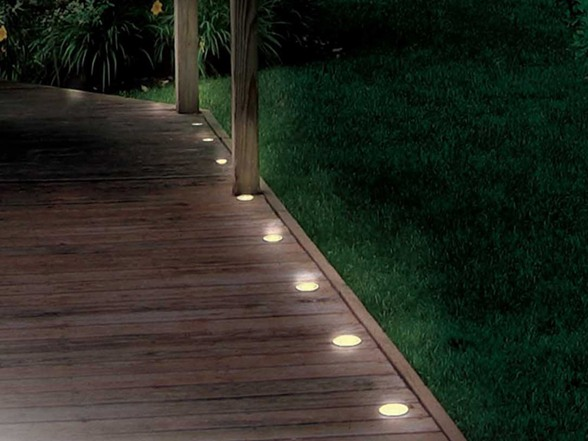 Solar Porch String Lights : Solar Deck and Path 5 Light String