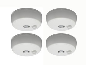 Mr. Beams All-Weather Motion LED Ceiling Light, 4PK