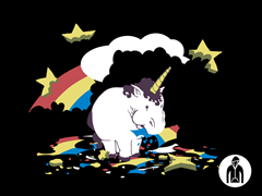 Fat Unicorn Zip-Up Hoodie