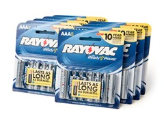 Rayovac AAA Alkaline Batteries - 72 Pack