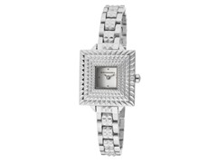 BCBG Jolie Stainless Steel Square Watch